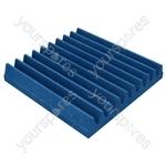 30 X 30 X 5cm Foam Acoustic Tiles (Pack of 16) - Colour Electric Blue