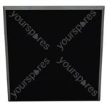60 X 60 X 5CM FABRIC FACED TILE (Pack of 6) - Colour Black
