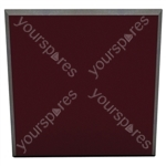 60 X 60 X 5CM FABRIC FACED TILE (Pack of 6) - Colour Burgundy