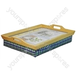Wooden Lap Tray with Cushion - Colour Natural Colour