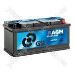 AGM Start Stop Plus Battery 12V - 105Ah - 950A