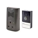 16 Melody Plug-in Wireless Door Chime + Socket - Black