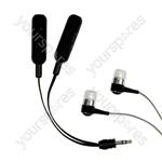 Logic 3 LOGIC3 deluxe audio splitter & earphones Spares