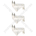 Right Hand Ice Box Door Flap Hinge Indesit Ariston Hotpoint Fridge Freezer Pack of 3