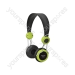 Classroom Headphones with In-line Microphone - Green - EHP800-GRN