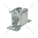 Pressed Facia Mast Bracket with Clamp - clamp- bulk - AE4085