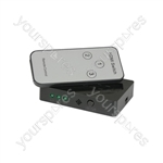 Mini HDMI Switch 3x1 with IR Remote Control - w/IR - HDP31M