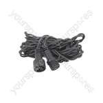 Outdoor String Light Rubber Extension Cable - - 5m