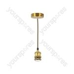Vintage E27 Pendant Cord Sets - Antique Gold - PHE27-AGD