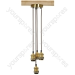 Quad E27 Pendant Cordsets - Antique Gold - 4P-E27-AGD