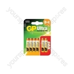 GP Ultra Alkaline Batteries (8 + 4) - AAA (8+4)