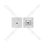 Network RJ-45 Keystone Faceplate, Twin Outlet