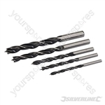 Lip & Spur Drill Bit Set 5pce - 4 - 10mm