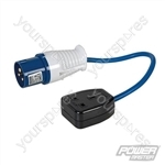 16A-13A Fly Lead Converter - 16A Plug to 13A Socket