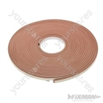 Self-Adhesive EVA Foam Gap Seal - 3 - 8mm / 10.5m Brown