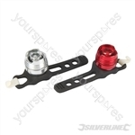 Cycle Safety Lights Aluminium 2pce - 2pce