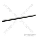 Garage Door Brush Strip 25mm Bristles - 2 x 1067mm Aluminium
